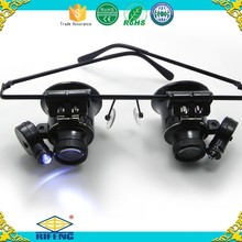 Hot sale magnifier eye glasses style with led light