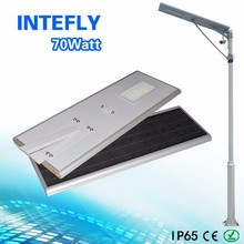 Manufacturer of 70w high efficiency led solar street with all components IP66