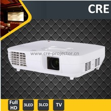 China new arrive best quality image 1080p 3led 3lcd 1080p lens shift,optical zoom portable projector proyector projektor full hd