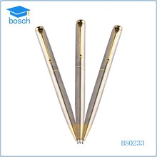Metal twist ball pen silver metal pen souvenirs and promotion gifts