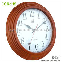 seiko quartz clock Large Wooden Office Wall Clock With Rohs CE doorbell clock