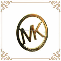 2015 Top Sell Gold Michael K Round Metal Famous Brand Bag Tags