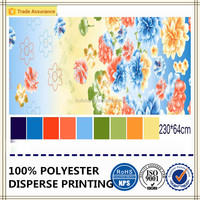 polyester brushed fabric soft feeling dyed and printed fabric with flower design