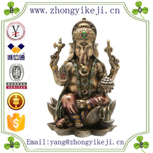 2015 chinese factory custom made handmade carved hot new products resin feng shui design of elephant god statue