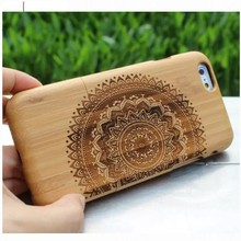 High quality products 2 IN 1 Bamboo Wooden Mobile phone case for apple iphone 6 customization welcome