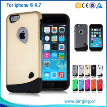 Ultra thin Cobblestone series hybrid phone case for iphone 6 , armor shockproof case for apple iphone 6
