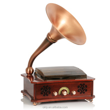 Electric Wooden antique gramophone, Retro phonograph, with USB /sd PLAYER