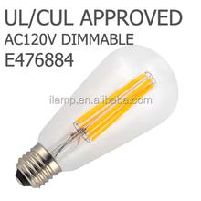 E14 4pcs*1w filament , LED Filament Opal P45 4w