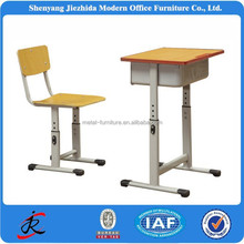 china modern high quality steel wooden adjustable desk and chair school furniture
