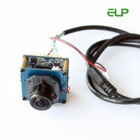 360 angle view 5.0 megapixel IP network camera module with fisheye lens support IR audio extension