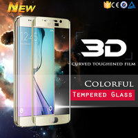 Premium color full screen covered tempered glass screen protector for Samsung Galaxy S6 edge screen protector