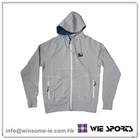 High Quality Ladies 100% Cotton brushed back sweat hoodie with zip pockes