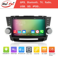 HuiFei Android 4.4.4 System Quad Core Car PC For Toyota Highlander With Touch Screen DVD For Toyota