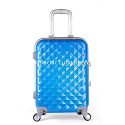 Fashion Blue Girls Hard Shell ABS PC Travel Luggage