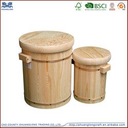 2015 hot sale antique wholesale handmade Wooden buckets for sale