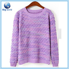 Knitted sweater woman&new design girl sweater&sweater designs for girls BF-022
