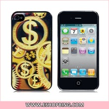 3D Dollar Sign Plastic Case for iphone 4 4S