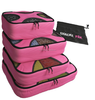 4pcs Set Packing Cubes - Travel Organizers with Laundry Bag