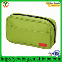 Wholesale custom printed green Polyester pencil case