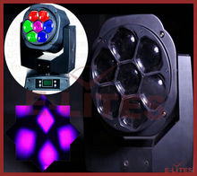 Professional Lighting 7pcs *15w rgbw color changing moving head light, pro audio light