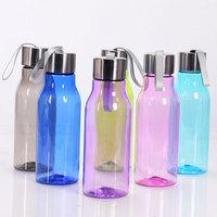 Tall transparent pe tritan water bottle blue