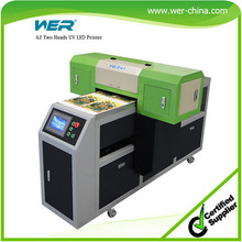 hot-sale color white simultaneously printed double speed A2 flat bed uv printer
