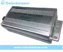 Reliable WS2811 led strip dmx controller, led RGB dmx to spi decoder