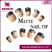 Top-hot artificial matte nail tips of press on nail tips designs supliers