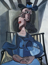 Picasso reproduction Girl in chair famous art paintings