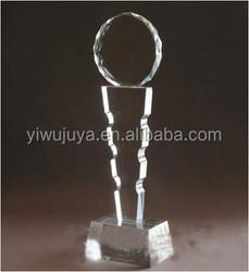 best design top medal laser engraving badminton crystal award trophy