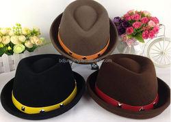 Trendy ladies wool flower hat handmade felted wool hats