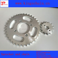 A3 steel standard motorcycle chain and sprocket