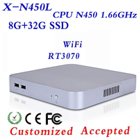 Fanless Design Mini Client N450 8G RAM 32g SSD Support Linux OS Ubuntu Thin Client PC Industrial Mini PC Mini Desktop