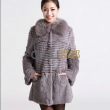 QD5831 rabbit fur and fox fur coat