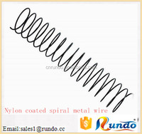 Environmental nylon coated spiral metal ring wire for sale