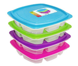 Food packaging Large 4-compartment Leak Proof Bento Lunch Box Containers for Adults - Set of 4