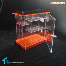 Factory Wholesale Lockable Perspex E cigs Showcase Plexiglass E liquid Counter Display Acrylic Vapor Pens Display Box