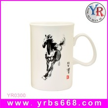 Custom Design Straight White Ceramic Mug of Great Artist's Work Printing for Souvenir Gifts