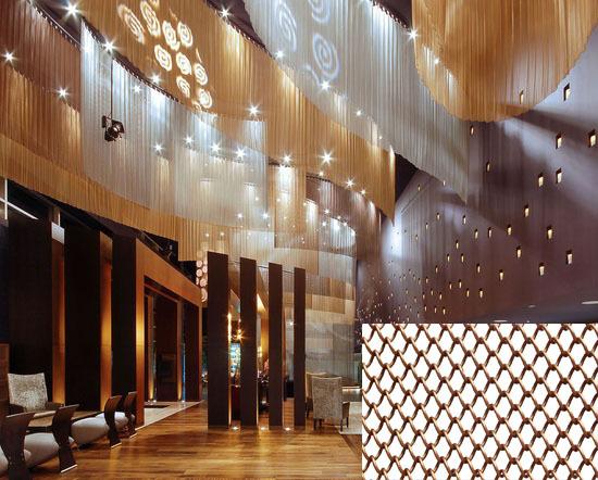 plafond d coratif suspendus treillis m tallique rideaux. Black Bedroom Furniture Sets. Home Design Ideas