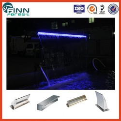landscape big stainless steel Waterfalls with led light for Indoor and outdoor fountain decoration