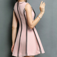 Trendy fashion simple pink latest dress designs for girls summer