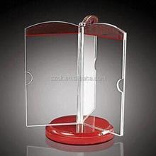 Most popular rotating custom acrylic menu holder