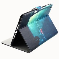 Nice Design Effiel Tower Pattern Leather Flip Case for iPad Air 2 with Card Slots