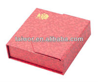 Hot sell silk insert gift box with magnet
