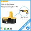 Dewalt battery replacement 18v Ni-Cd battery for DC385K Cordless Reciprocating Saw Kit