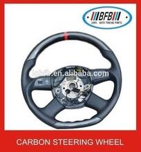 2005-2008 BLACK CARBON FIBER STEERING WHEEL FOR AUDI A6