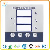 Flexible custom membrane switch pet/pc for digital power meter