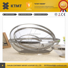 stainless steel wire mesh deep fryer basket/stainless steel kitchen cooking ball basket fro fruit & vegetable storage