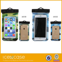 Underwater swimming and taking photo waterproof cell phone bag /pvc waterproof case /phone waterproof case with better touch