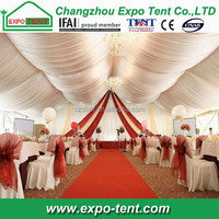 Modern party tent decoration with lining decoration